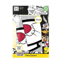 Load image into Gallery viewer, Looney Tunes Sylvester Triple Layer Cotton Fabric Face Mask 2PK
