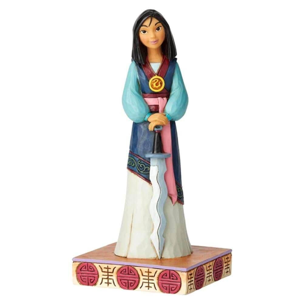 Front View of Disney Traditions Mulan Princess Passion Figurine