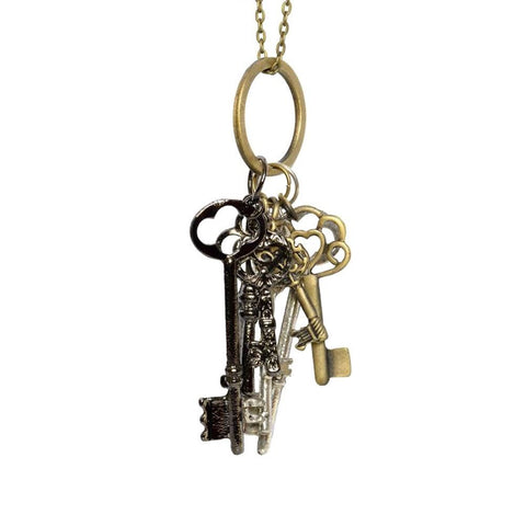 Keys to the Kingdom Charm Pendant Necklace