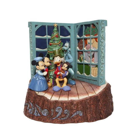 Disney Mickey Mouse Christmas Carol Carved by Heart Figurine