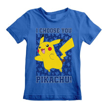 Load image into Gallery viewer, Children's Pokemon I Choose You Pikachu Blue T-Shirt