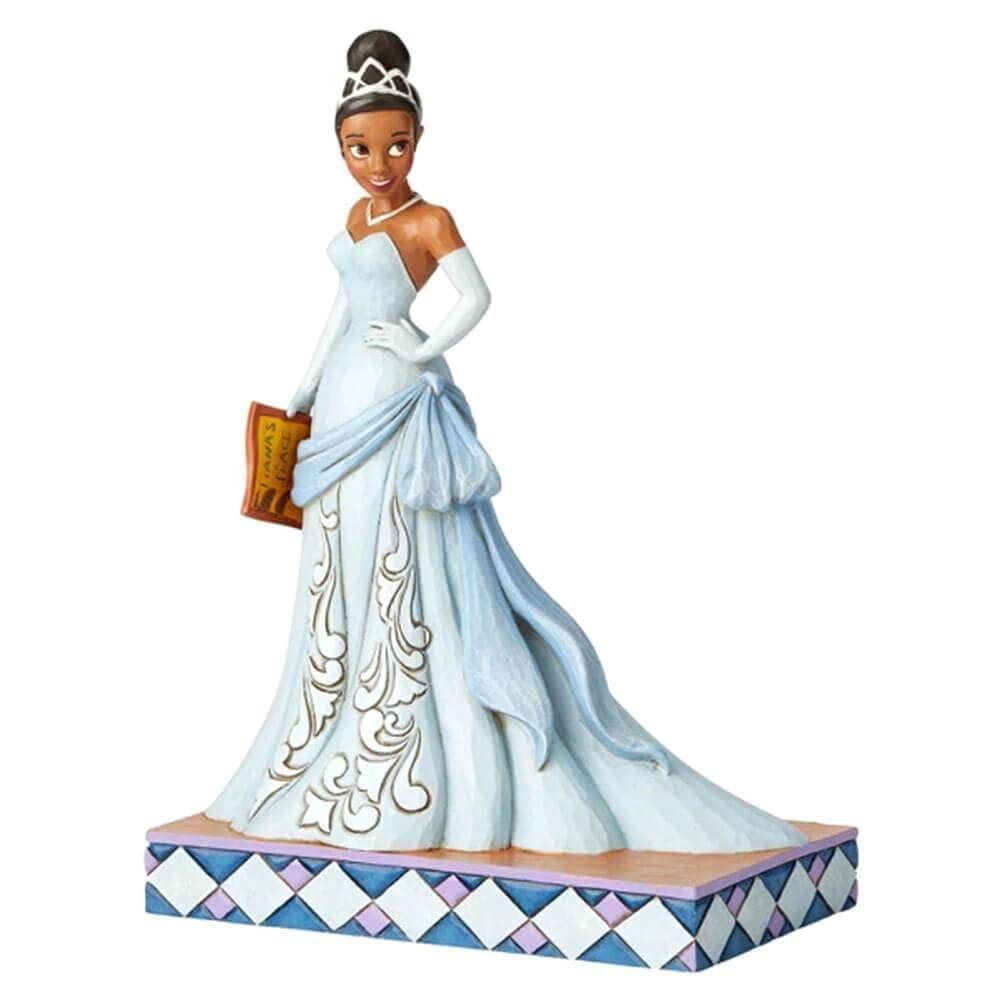 Front Side View of Disney Traditions Tiana Princess Passion Figurine