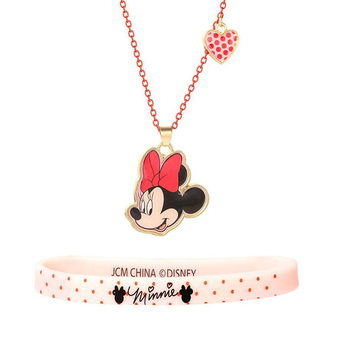 Children's Disney Minnie Mouse Necklace and Bracelet Set