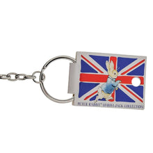 Load image into Gallery viewer, Beatrix Potter Peter Rabbit Union Jack Keyring