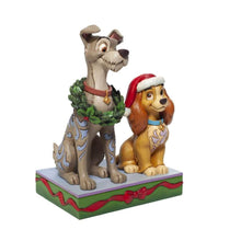 Load image into Gallery viewer, Disney Traditions Lady and the Tramp Decked out Dogs Figurine