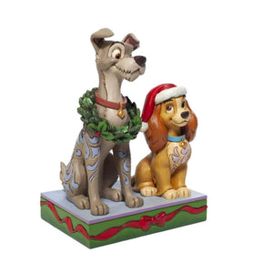Disney Traditions Lady and the Tramp Decked out Dogs Figurine