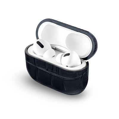 Midnight Black Caiman Series Airpods Pro Case