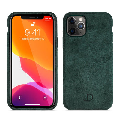 Midnight Green Alcantara iPhone Case