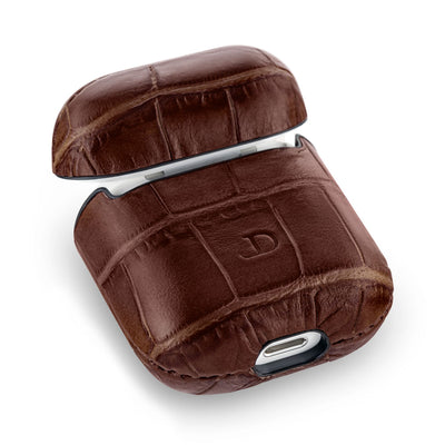 Mahogany Brown Caiman Series Airpods 1 & 2 Case