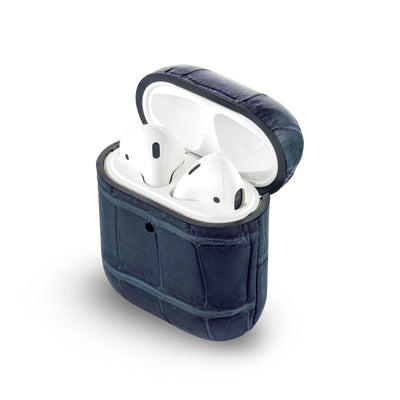 Navy Blue Caiman Series Airpods 1 & 2 Case