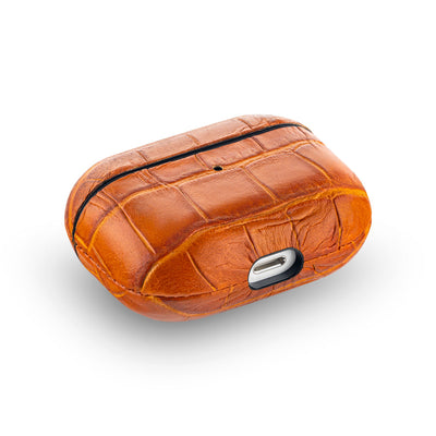 Whiskey Brown Caiman Series Airpods Pro Case