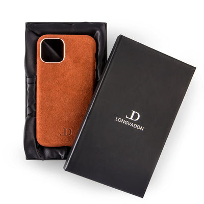 Grizzly Brown Alcantara iPhone Case