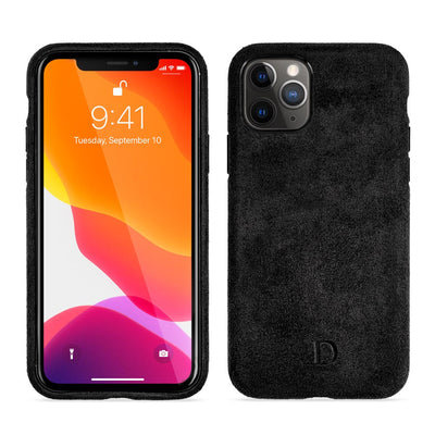 Midnight Black Alcantara iPhone Case