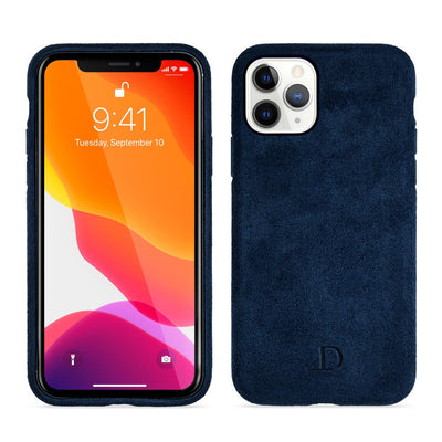 Navy Blue Alcantara iPhone Case