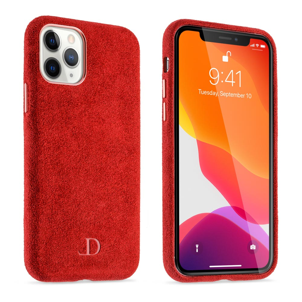 Crimson Red Alcantara iPhone Case