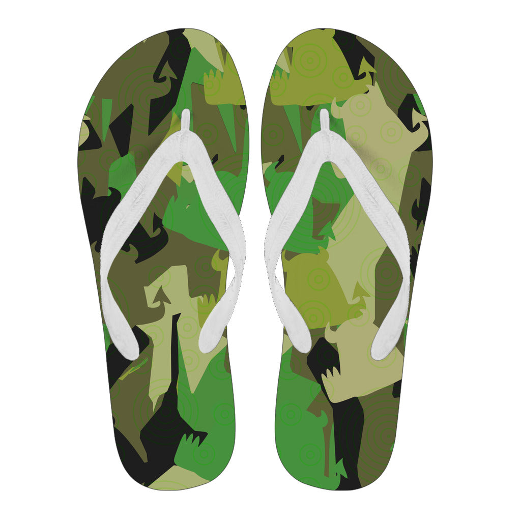 Men's Flip Flops • Forest Fun • - Beasties Clothing
