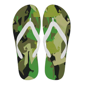 Forest Fun Flip Flops - Black Strap
