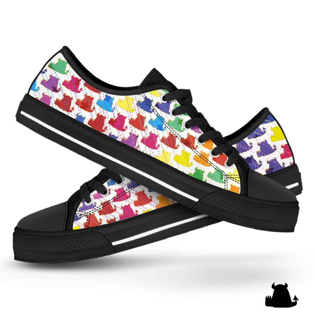 Ladies Candy Low Tops - Beasties Clothing