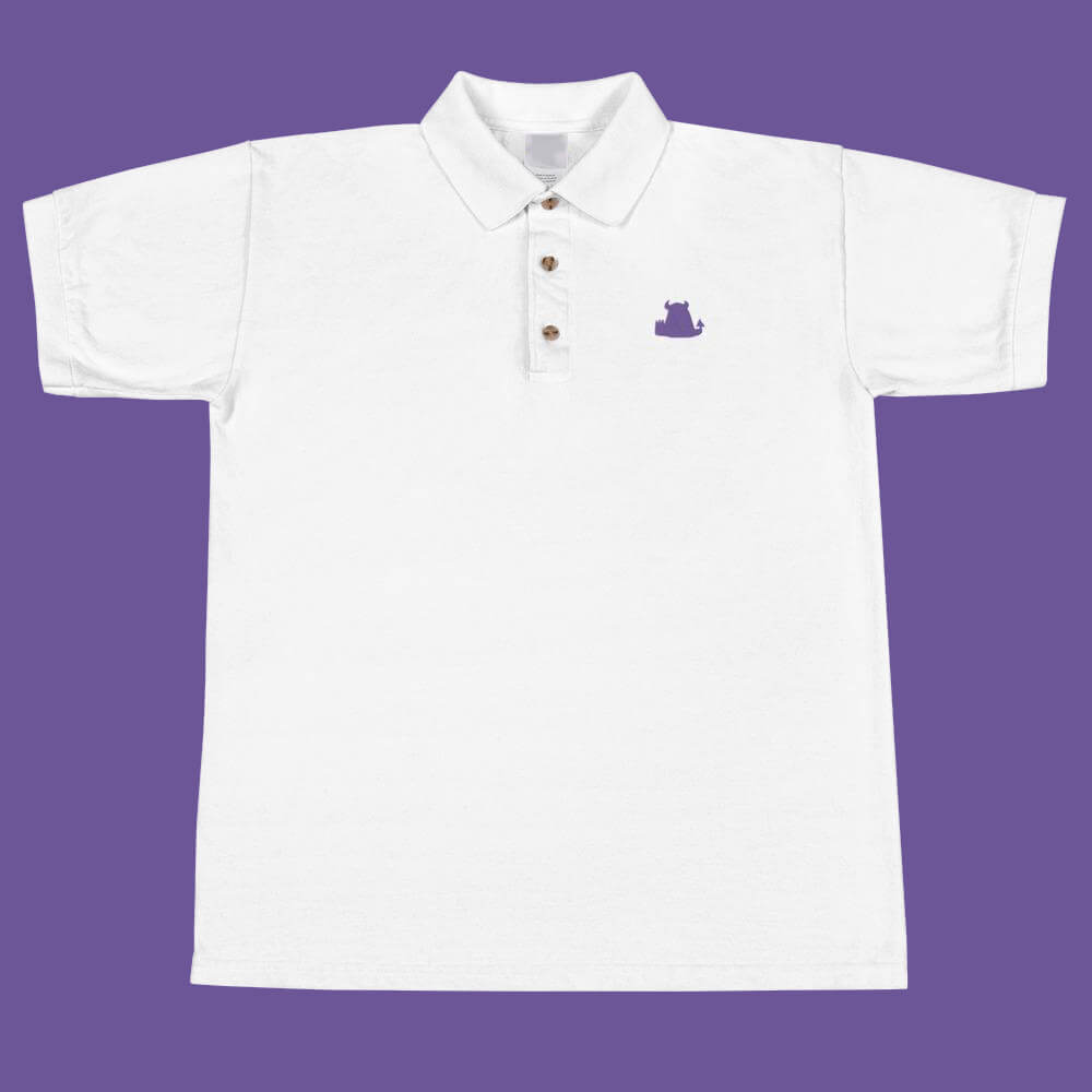 Beasties Embroidered Polo Shirt with Purple Icon