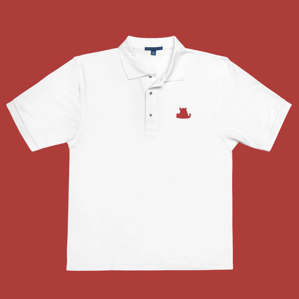 Beasties Black Premium Polo with Red Icon