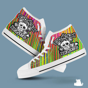 Bad Bad Beastie Canvas High Top - Stripe - Beasties Clothing