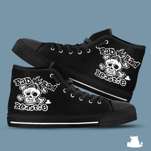 Bad Bad Beastie Canvas High Top Shoes - Beasties Clothing