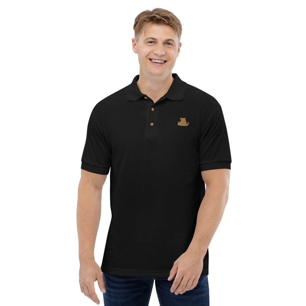 Beasties Polo Shirt with Gold Icon