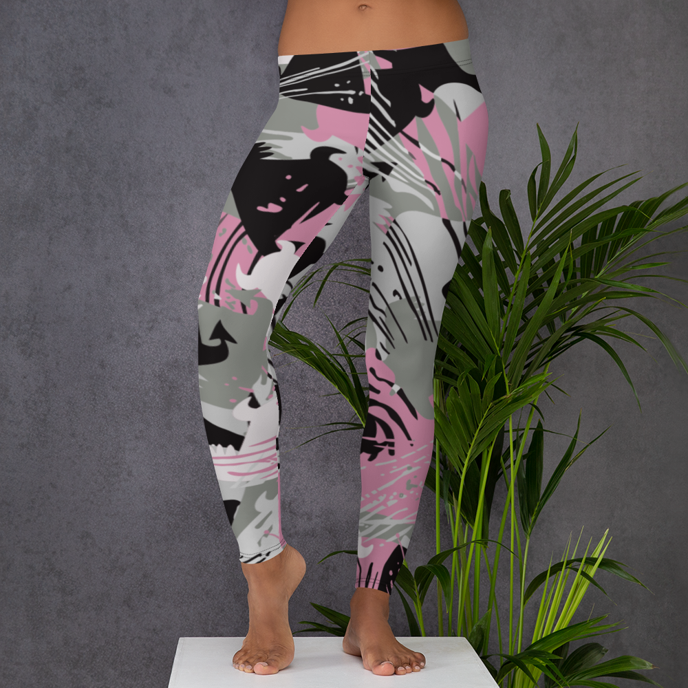 Beasties Black, Pink and Grey Urban Camo Leggings