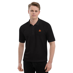 Beasties Men's Premium Polo Shirt with Orange Icon