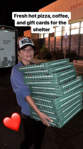 Lady Gaga picks up the tab