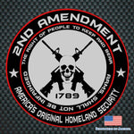 Second Amendment Bumper Sticker Original homeland security