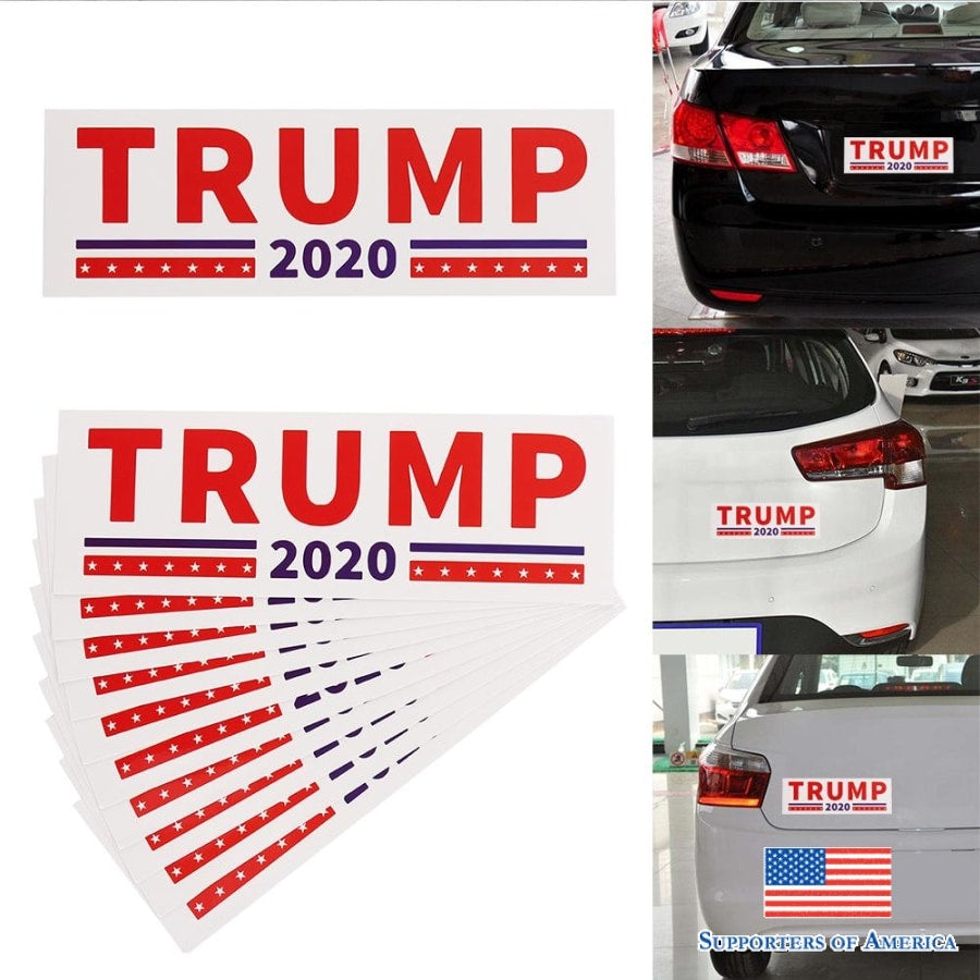 10Pcs Donald Trump For President 2020 Bumper Sticker Keep Make America Great Decal For Car Styling