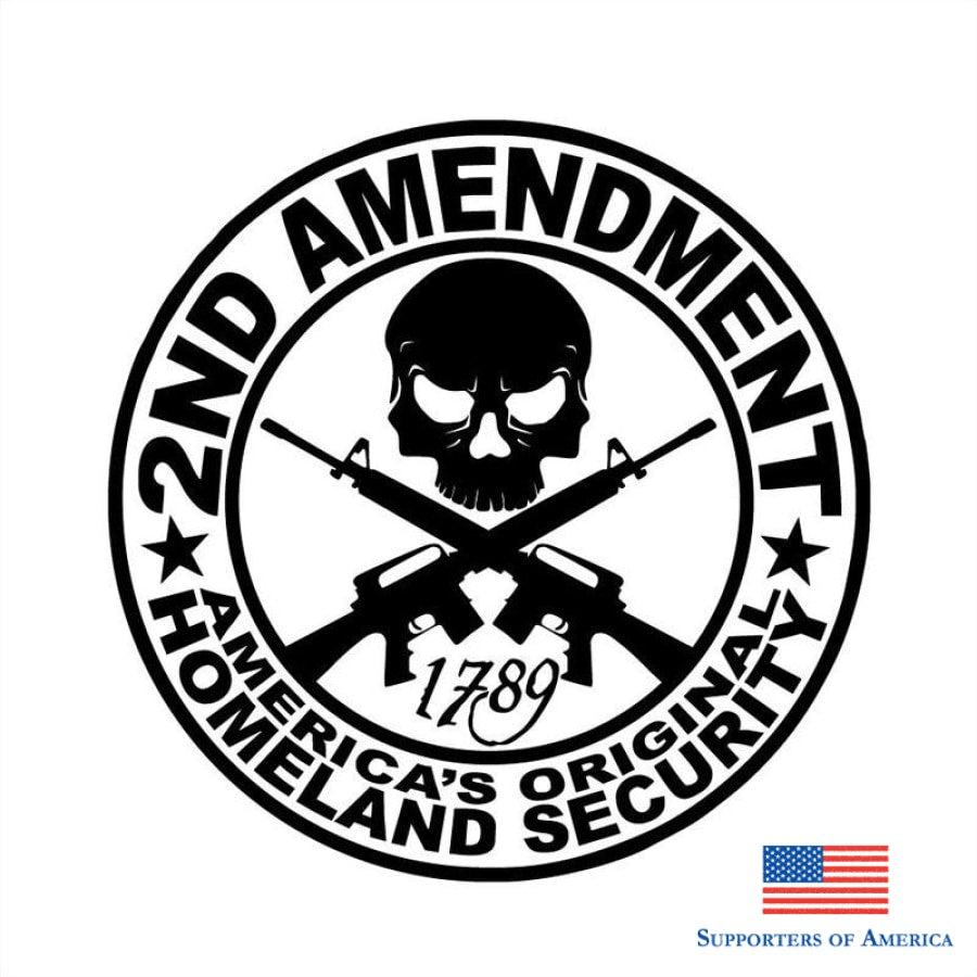 15X15Cm 2Nd Amendment Vinyl Car Sticker Motorcycle Accessories Decorative Decals S8-0073