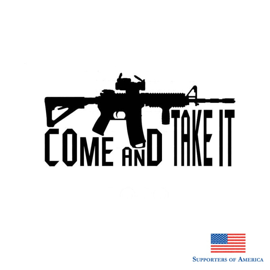 17.8Cm*8.8Cm Come Take It Vinyl Decal 2Nd Amendment Gun Rights Car Sticker Cartoon Reflective