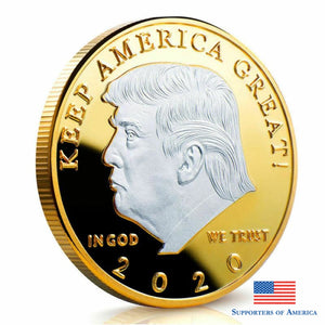 Free 2020 Trump President Commemorative Coin Novelties