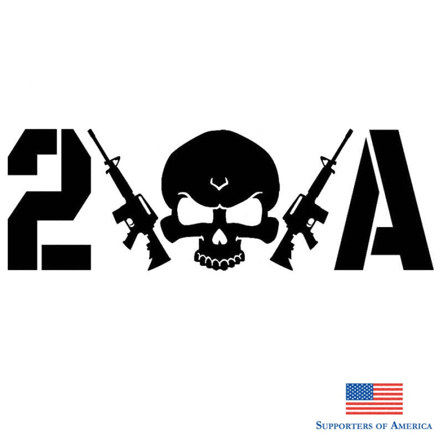 22.9Cm*7.6Cm 2A Skull Rifles 2Nd Amendment Gun Rights Car Sticker Graphic Vinyl Auto Decals Styling