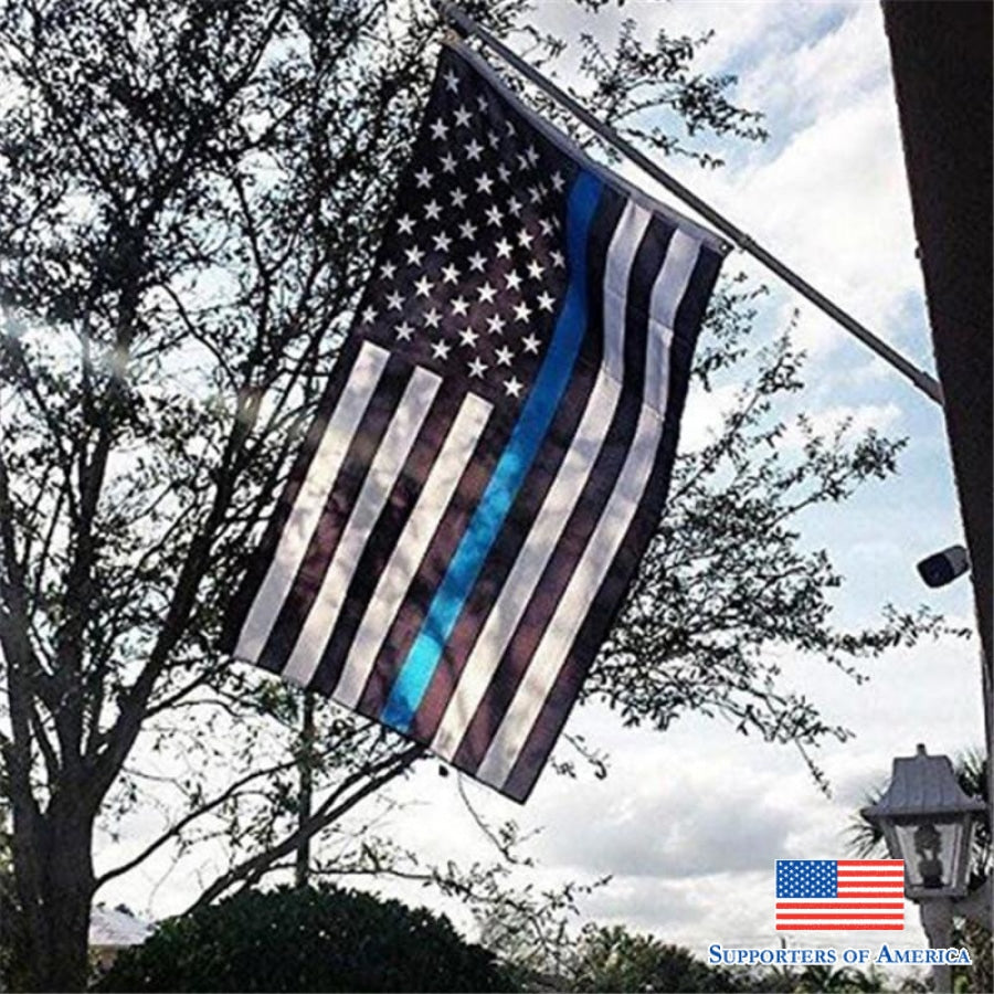 Free Thin Blue Line Usa American Flag Flag