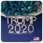 Blingbling Rhinestone Trump 2020 Word Brooch Pin Jewelry