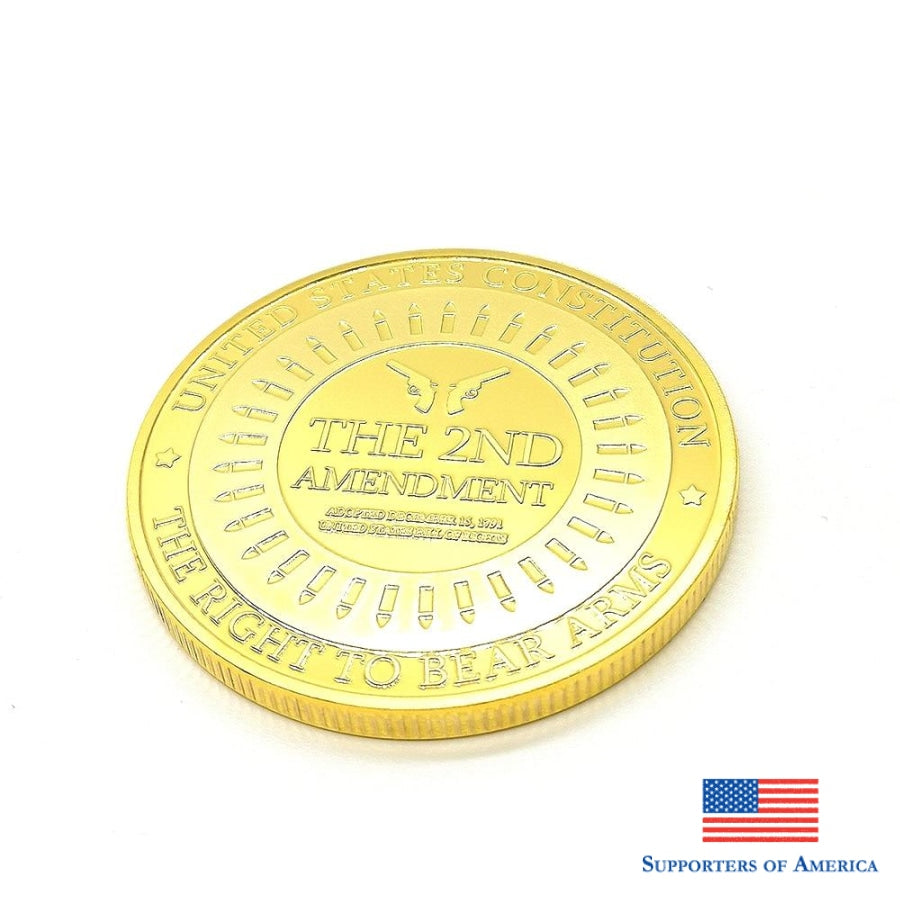 Challenge Coins United States Constitution The 2Nd Amendment Souvenir Coin Metal Badge Collection