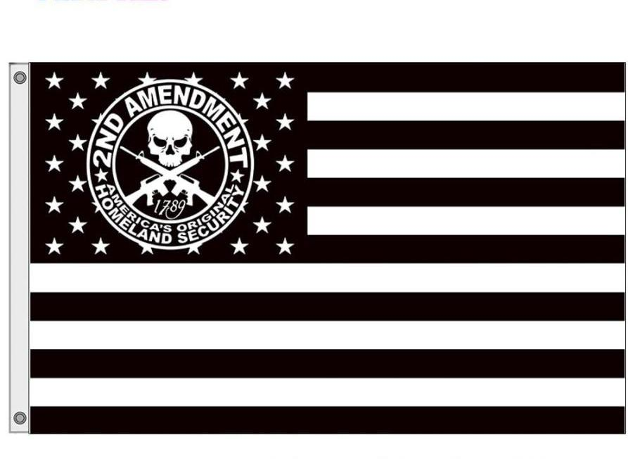 Custprint Americas Original Homeland Security Flag 2Nd Amendment Flags With Stars And Stripe