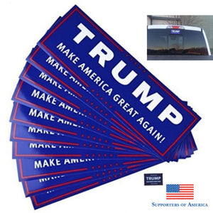 Donald Trump Make America Great Again ! National Flag + Republican Embroidery Cap +10Pcs Bumper
