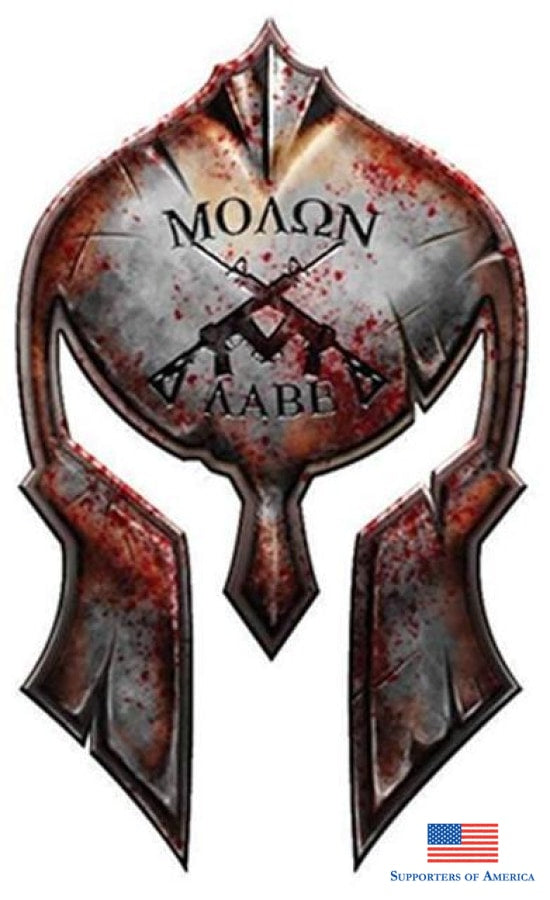 Molon Labe Spartan Helmet Decal Bumper Sticker