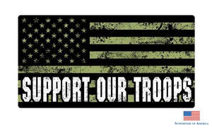 Support Our Troops 2 Pack Of Car Decals