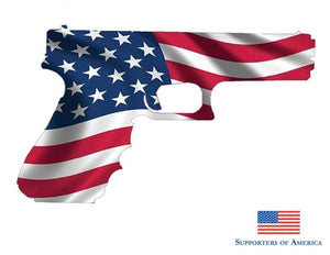 Earlfamily 13Cm X 7.7Cm American Flag Pistol Usa Gun Rights 2Nd Amendment Decal Sticker Ruger Vinyl