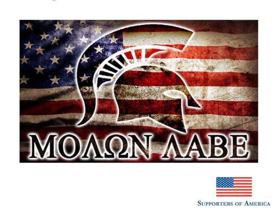 Earlfamily 13Cm X 7.8Cm Molon Labe Sticker Decal Set 2Nd Amendment American Flag Car Window Body Jdm
