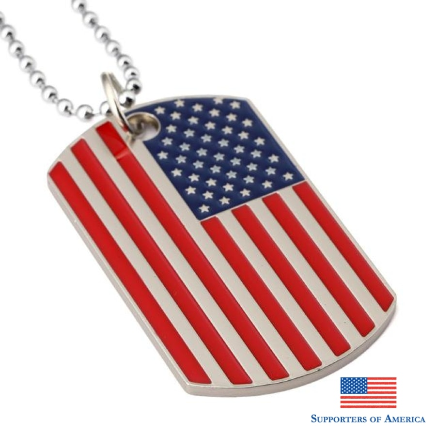 Full Color American Flag Dogtags