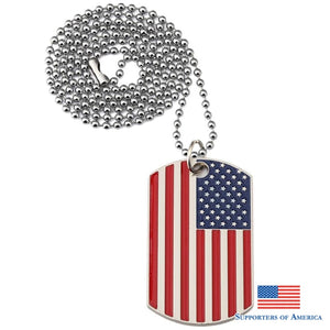 Full Color US Flag Dogtags