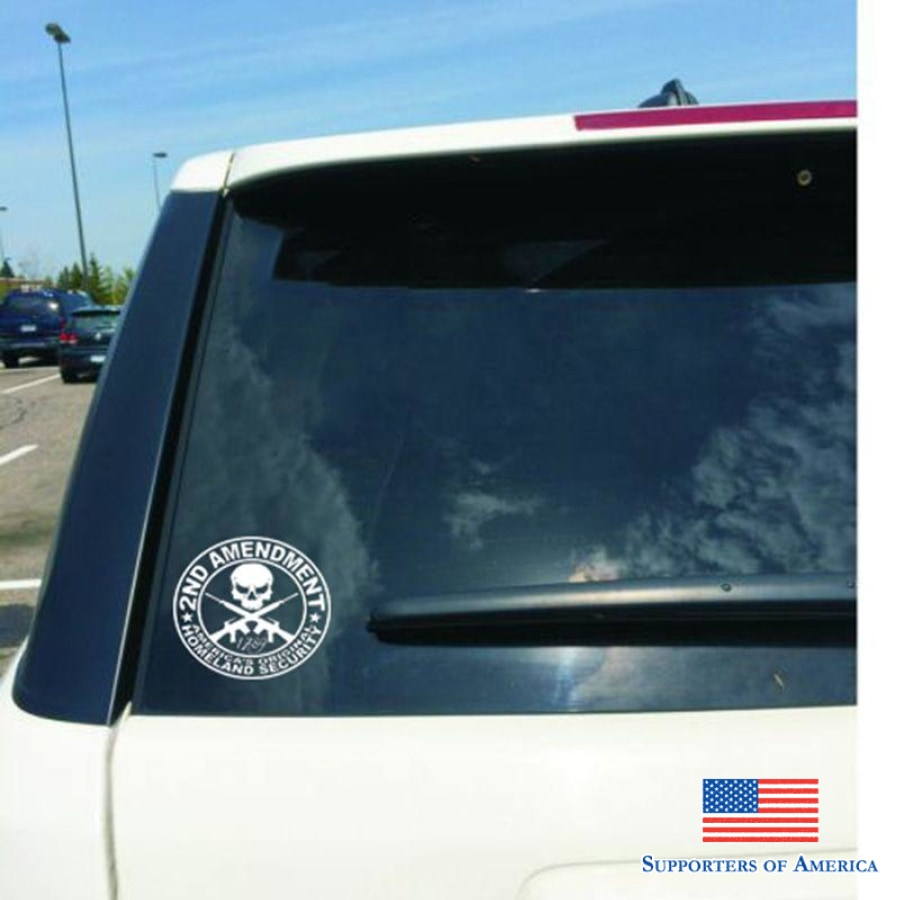 Hot 2Nd Amendment Gun Vinyl Auto Sticker Decals Motorcycle Car Styling Accessories Diameter 13Cm
