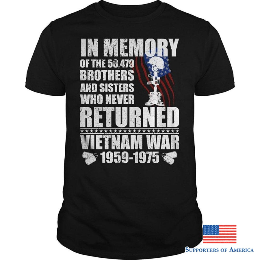 In Memory Of The 58479 Brothers T-Shirt (Unisex) Veteran Shirts Gifts Printed Boys Top Tee Shirt