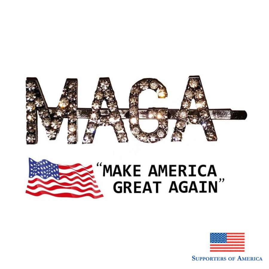 Maga Make America Great Again Words Hairclip Blingbling Letters Hair Pin For Usa Ladies And Girls